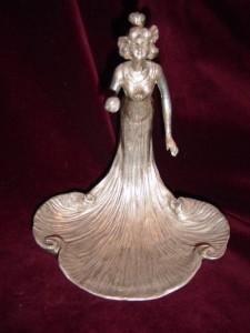 Art Nouveau lady dish